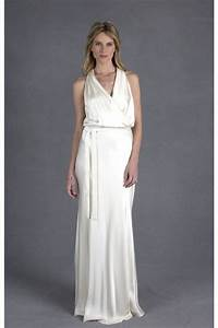 informal sheath halter ivory satin casual wedding dress With ivory informal wedding dresses