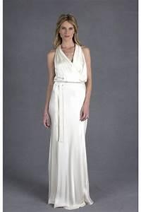 informal sheath halter ivory satin casual wedding dress With casual ivory wedding dress