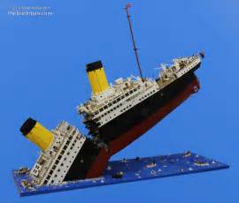 sinking of titanic recreated in 120 000 piece lego build