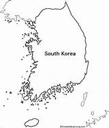 Korea Map South Coloring Outline Pages Korean Enchantedlearning Activity Country Research Maps Asia Draw Learning Geography Blank Printable Flag Activities sketch template