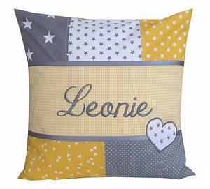 Kissen Mit Namen Nähen : kissen mit namen leonie der windeltorten shop ~ Watch28wear.com Haus und Dekorationen