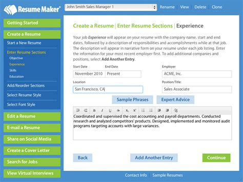 Resume Maker by Write A Better Resume Resume Maker Individual Software