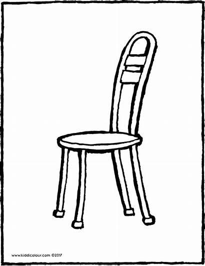 Chair Stuhl Stoel Chaise Kiddicolour Kleurplaat Coloriage