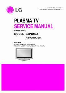 Lg 42pc1da 42pc1da Ec Plasma Tv Service Manual Download