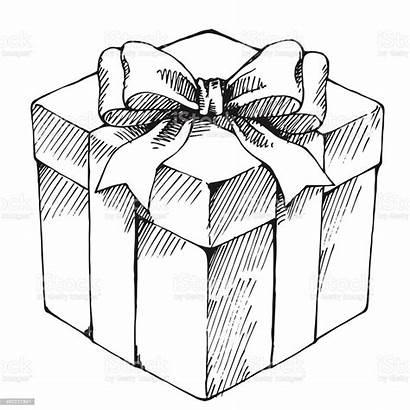 Gift Box Drawn Hand Vector Birthday Present