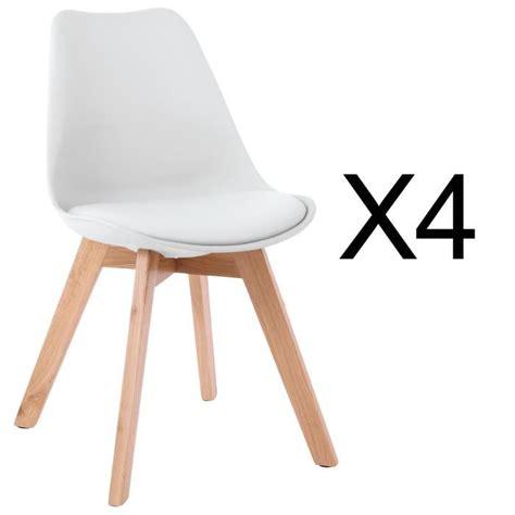 charmant chaise scandinave pas cher 2 lot de 4 chaises style scandinave catherina blanc