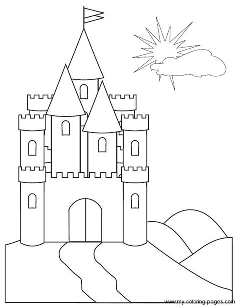 coloring castle easy 3d castle coloring coloring pages