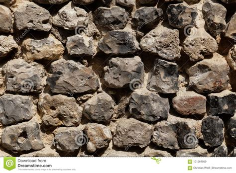 Wall Made Of Flint Stone Stock Image Image Of Build