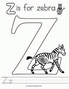 Letter Z (Zebra) Coloring Page | Coloring Pages - AZ ...