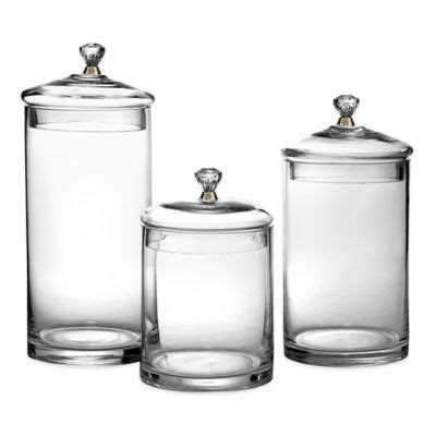 Clear Glass Kitchen Canister Sets by Buy Clear Glass Canisters From Bed Bath Beyond