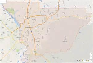 GA Columbus Georgia Map