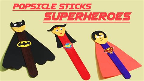 quick easy superhero popsicle crafts diy popsicle