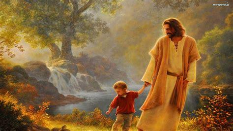 jezus chlopczyk woda las