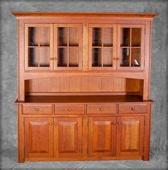 modern shaker large buffet hutch shown  natural cherry