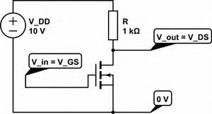 Transistors - How Does The Resistor Characteristic Work On A Mofset Diagram
