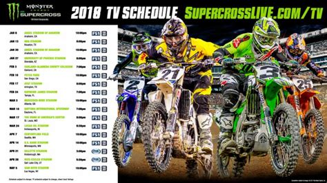 motocross ama schedule format changes coming to 2018 monster energy supercross