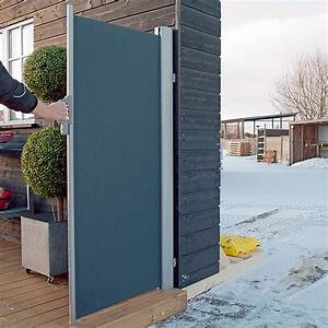 Sunfun mobile seitenmarkise anthrazit 3 x 16 m bauhaus for Mobiler sichtschutz terrasse