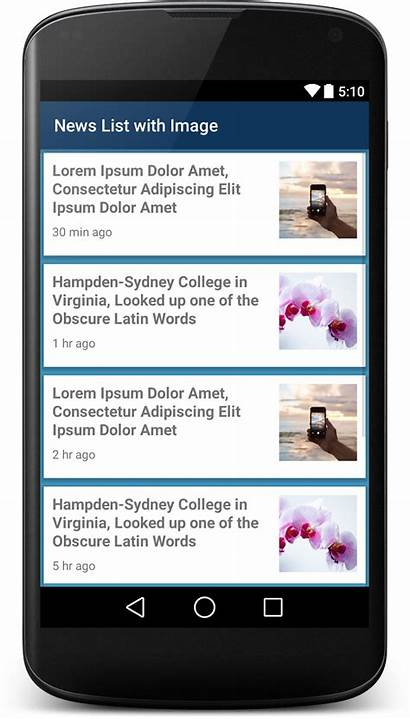 Xml Ui Android App Layout Application Examples