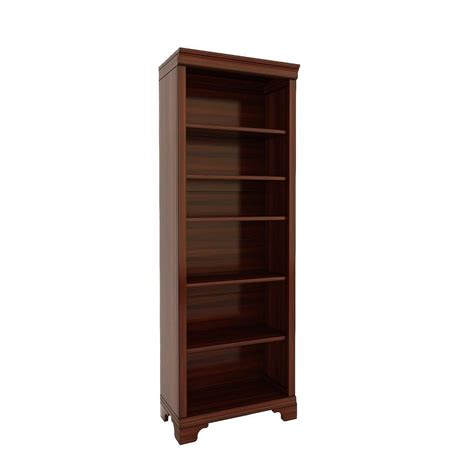 Bookcases Cherry Finish by E Ready Belcourt 6 Shelf 72 In Bookcase In Delmont Cherry