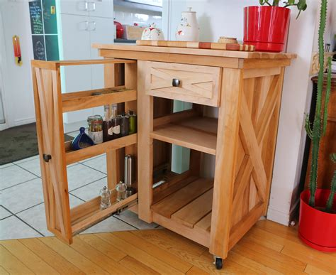 small rolling kitchen island ana white modified version of the rustic x small rolling kitchen island diy projects