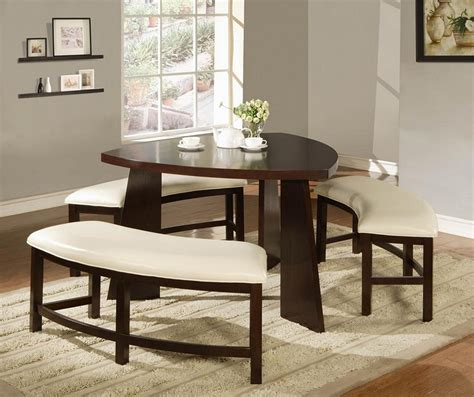 triangle dining table with bench triangular dining table set