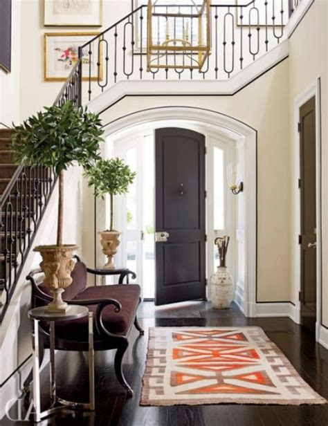 home entrance decor decorating modern traditional simple small symmetry