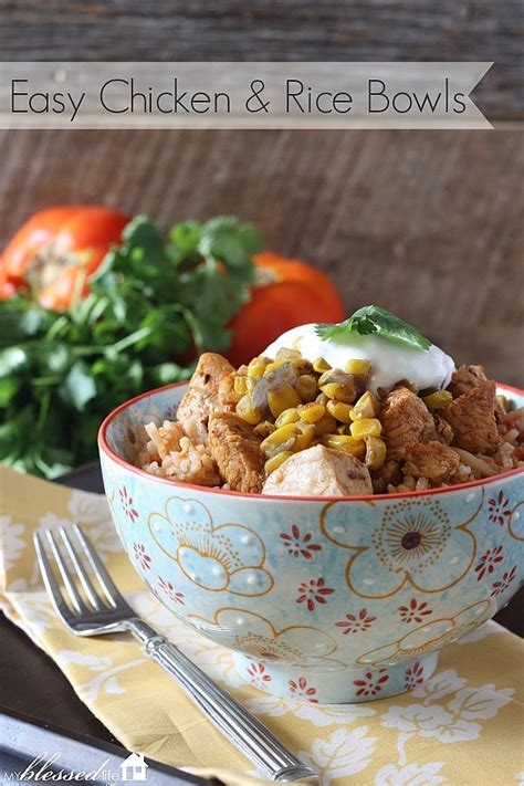 easy mexican chicken rice bowls