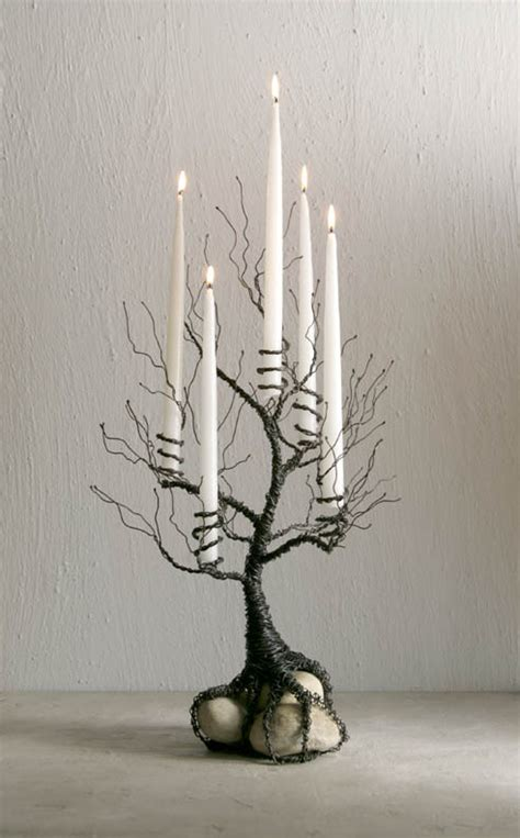 wrought iron taper tree