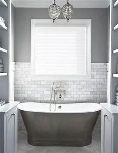 peinture salle de bain gris perle maison design bahbecom With couleur qui va avec le gris 11 peinture salle de bain 80 photos qui vont vous faire craquer