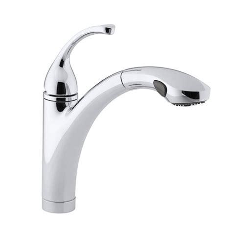 kohler forte pull out kitchen faucet kohler k 10433 cp forte single handle pull out kitchen faucet polished chrome faucetdepot com