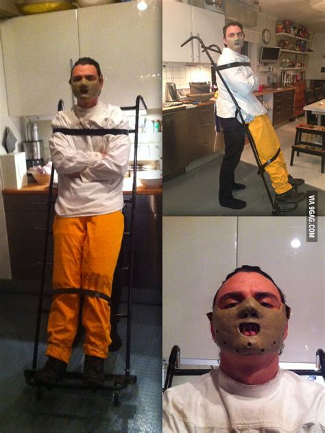 homemade hannibal lecter costume  scares
