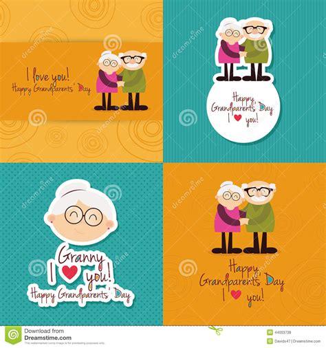 tarjetas para los abuelos en el dia padre d 237 a de los abuelos ilustraci 243 n vector