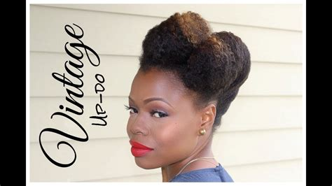 natural hairstyles updo pompadour hair
