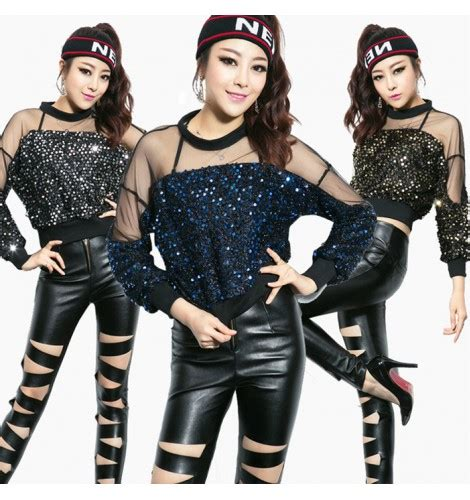 Black hollow front sexy fashion womenu0026#39;s adult girls long length pencil motorcycle jazz stage ...