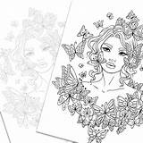 Coloring Adult Butterflies Around sketch template
