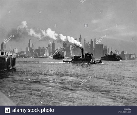 Tug Boat Engine Sound by 1930s 1933 Steam Engine Tug Boat And Staten Island Ferry
