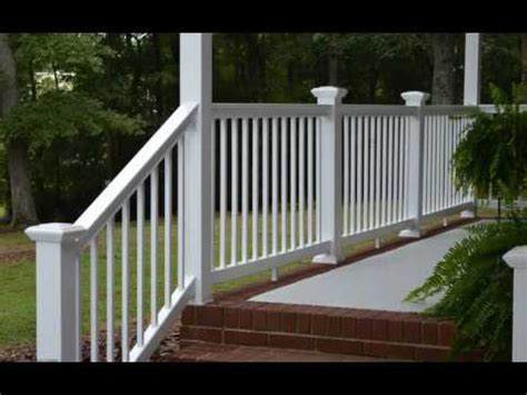 lowes banisters and railings vinyl railing lowes