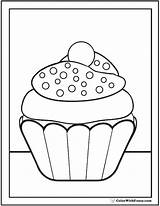 Cupcake Coloring Sprinkles Pdf Pages Nonpareil Printable Printables Colorwithfuzzy sketch template