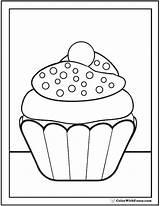 Cupcake Coloring Sprinkles Pdf Nonpareil Printable Printables sketch template