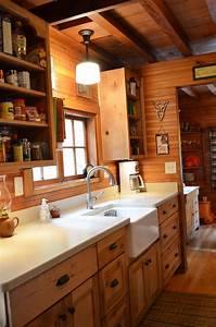 Rustic Cabin - Galley Kitchen (Cultivate com) log home