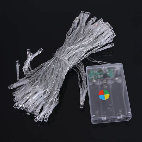 10m 80leds led string light 3xaa battery operated portable