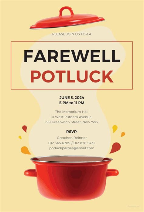 farewell invitation template  sample