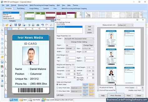 id cards designing corporate edition screenshots