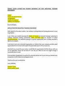 example of application for industrial training placement With industrial placement cover letter