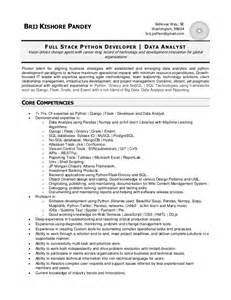 Python Resume On Error by Python Developer Resume Doc 28 Images Python Developer