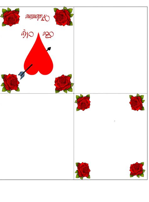 fold printable valentines day card rooftop post