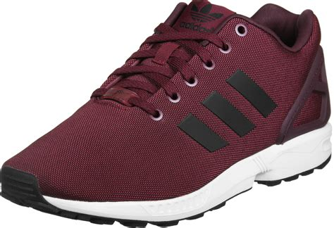 maroon color shoes adidas zx flux shoes maroon black