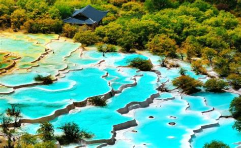 Hidden Colorful Pools in Huanglong Scenic Valley, China
