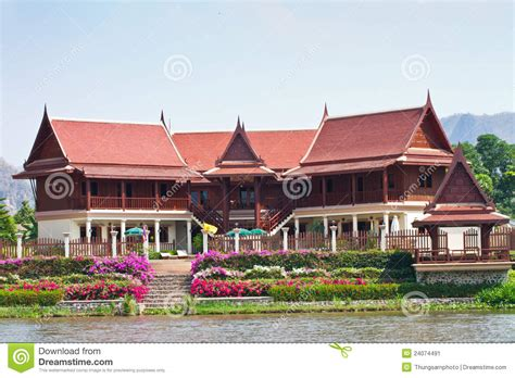 House Style : Thai Style House Stock Image. Image Of Family, Textures