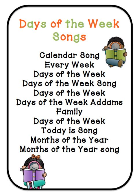 days of the week fall theme plus songs preschool 192 | 4